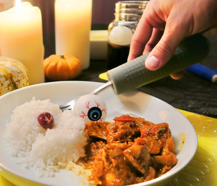 T-CG-Cutlery-Grips+TC-MAT-35-3-Yellow-Table-Mat-Plate-of-Food-Halloween-Autumn-3