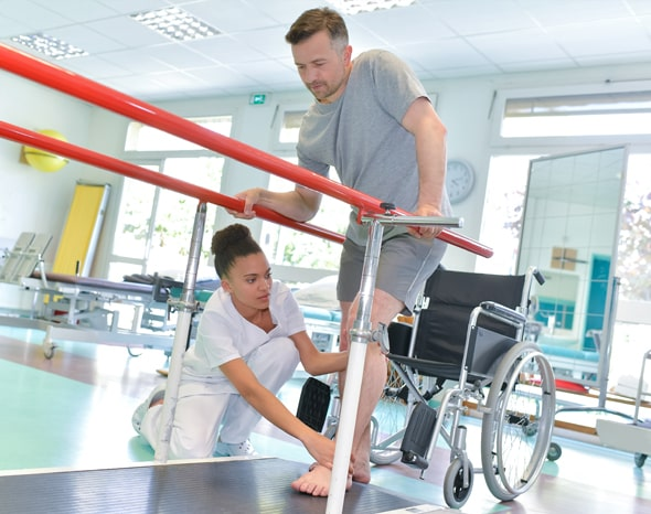 World Occupational Therapy Day-Occupational Therapist Treating Patient Who Requires Walking Aids