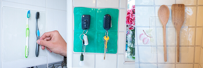 Keep Things Safe with Tenura Extreme mats - Car Keys, Toothbrushes & Utensils