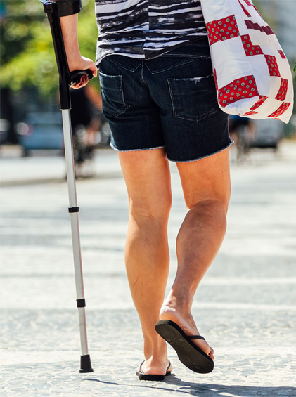 Man-on-crutches