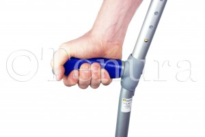 strip on crutch