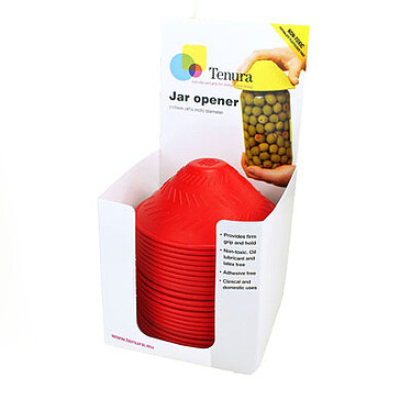Tenura Silicone Rubber Jar Opener Bulk Pack of 50